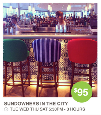 Sundowns in the City - Eat and Drink in the City - Walk Brisbane